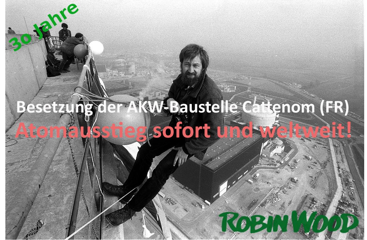 Aktionsfoto AKW-Besetzung Cattenom 1986
